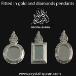 Quran diamond pendant