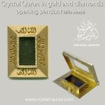 Quran in opening diamond book